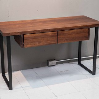 Mouth-shaped legs _ double drawer desk / work table