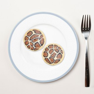 Healing Department Zoo Shape Cookies - Leopard (a six-piece)