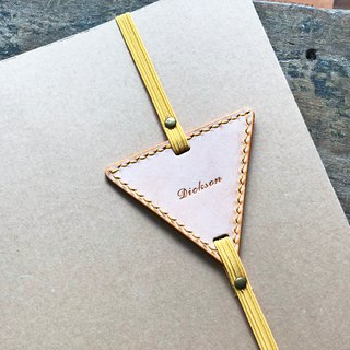 Finished Product Manufacturing - Triangle Bookmark Original Handmade Leather Bookmarks White Wax Vegetable Tanned Leather Italian Leather