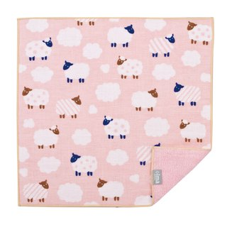 【IMA】WAFUKA Japan made Absorben, Soft, Cute & Unique Handkerchief - Little Sheep
