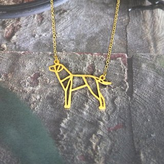 Glorikami Dalmatain Origami Dog Necklace