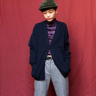 Pumpkin Vintage. Ancient dark blue Cashmere cashmere cardigan
