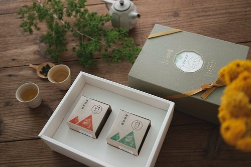 [Lang tea] window flowers tea gift box | Shuangshan (two boxes)