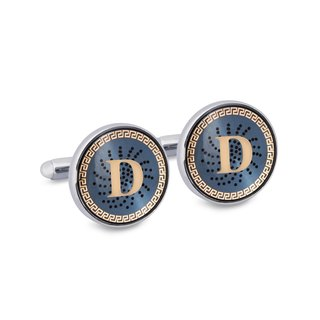 "Monogram ""D"" Cufflinks with Lacquer Finish"