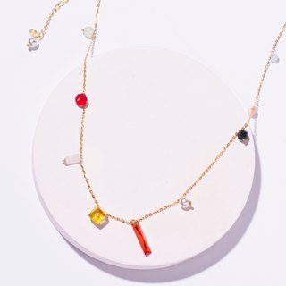 北所大斗七星小彩宝系列水晶 necklace 聚宝项链 Colorful zircon sweater chain