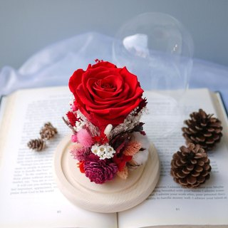 Christmas tribute - not withered red rose glass eternal flower star flower Valentine's Day