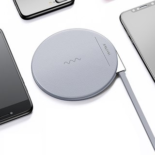 High-quality leather aluminum wireless charging pad