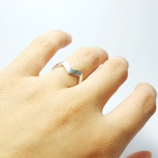 edges and corners. 925 Silver Ring