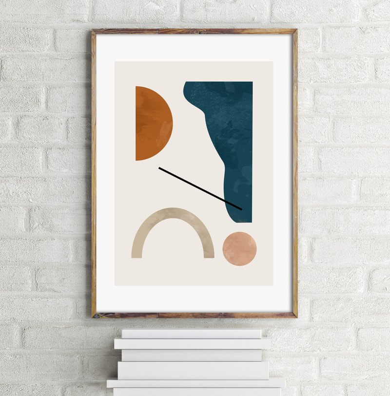 Abstract art print #1 Customizable painting poster