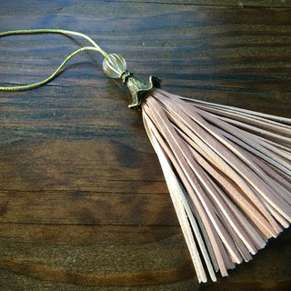 Leather tassel circus Peach blossom