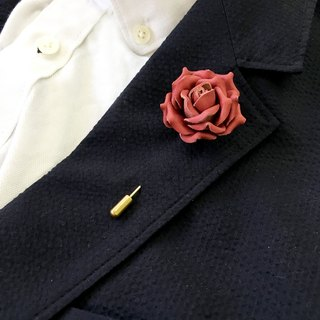 Leather Rose Pin