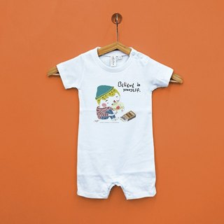 Believe in the strength of the parent of the baby Japan United Athle cotton soft sense of short-sleeved package ass clothing