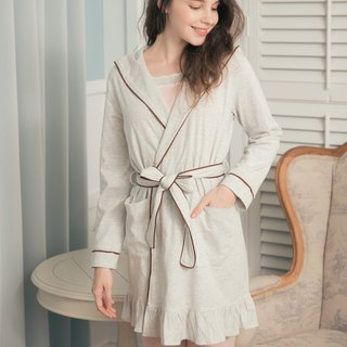 Good day's live cotton robe (light gray)