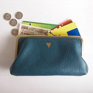 Coin Long wallet Triangle Turquoise