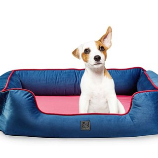 Lifeapp pet luxury sleeping pad _ Monroe Edition / Navy / S whole group can be washable