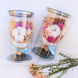 [Relaxed Flower Pot-Spring Blossom Pink Sakura Story] (Small) Dry Bouquet Starry Wishing Bottle