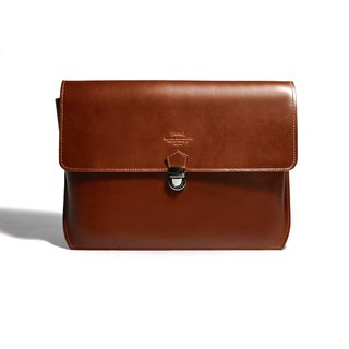 Clutch bag - brown leather