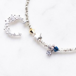 ::Xingyue Series :: Star Moon Broken Silver Bracelet Anklet Dual-purpose Chain