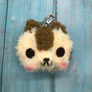 Squirrel - chubby doodle animal key ring charm