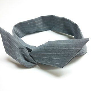 Plain gray hair band headband aluminum line scarf headband hairband*SK*