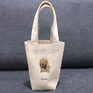 Sausage-Blinking---Taiwan-made cotton burlap-Wen Chuang Shijiao-Environment-Beverage bag-Flies Planet