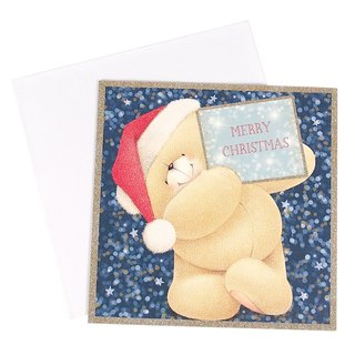Bear writing card wishes Christmas box card 10 into [Hallmark-card Christmas series]