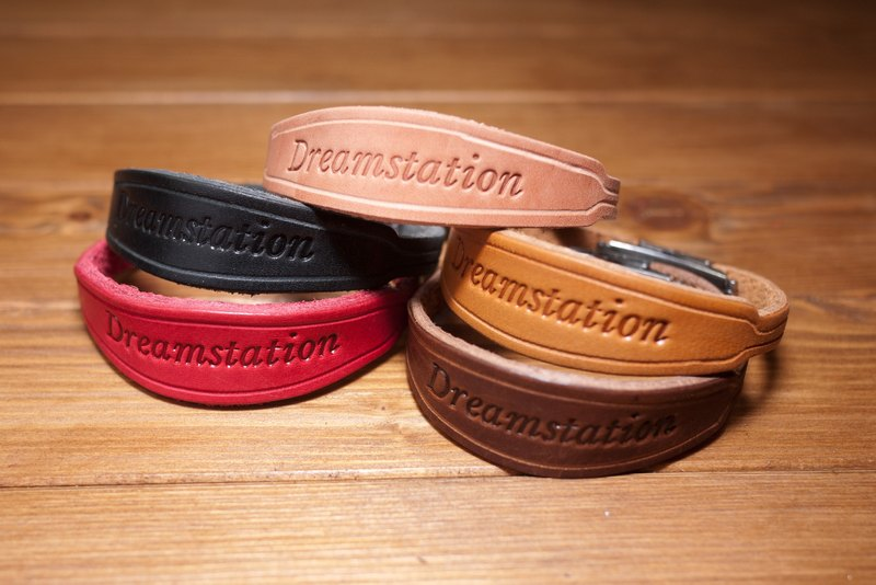 Leather vegetable tanned leather handmade leather bracelet Customized bracelet f