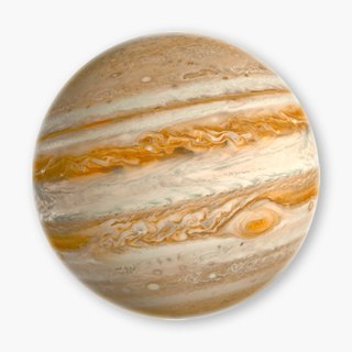 Snupped Ceramic Coaster - Solar System - Jupiter