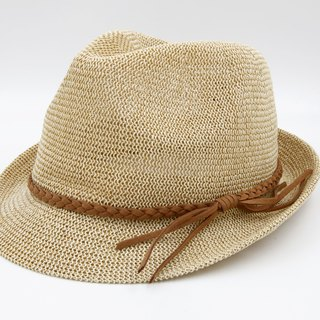 [Paper cloth home] Japanese gentleman hat netted white