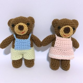 Aprilnana_ Bear Po (female), wool dolls, cute strap, woven dolls