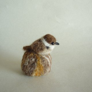 With wool felt sparrow and stub snap button