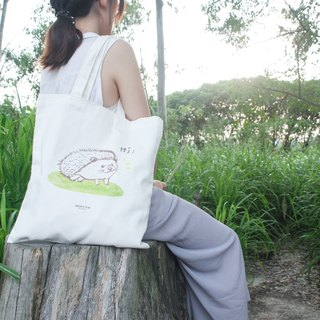 【Animal Series】#1 Busy hedgehog totebag (Large)