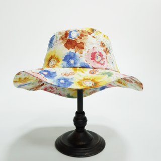恬 风 style hat - bloom watercolor flowers 2018 summer new item # sweet # visor # travel