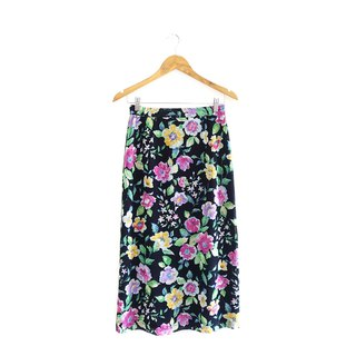 │Slowly│Funny Flowers-Ancient Skirt│vintage.Retro.Arts.Made in Japan