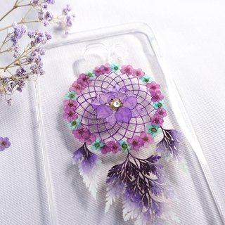 Pressed Flower Dreamcatcher Phone Case | Purple & Blue