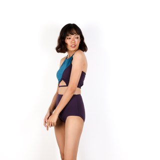 Tear Diamond set - BluePurple / swimwear / S
