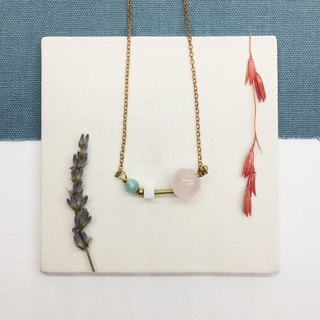 Laolin Grocery Travelin- Natural Stone Handmade Necklace Powder Crystal - White Turquoise - Tianhe Stone