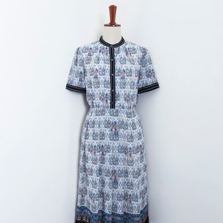 Banana Flyin Vintage :: Egyptian Etude:: Vintage Dress with Short Sleeve
