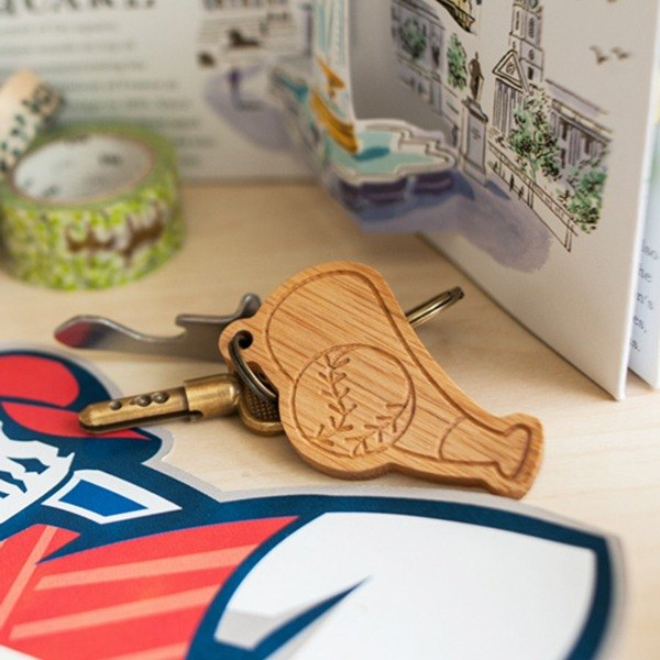 [customized gift] [baseball family] blow, pitcher, baseman sports key ring charm