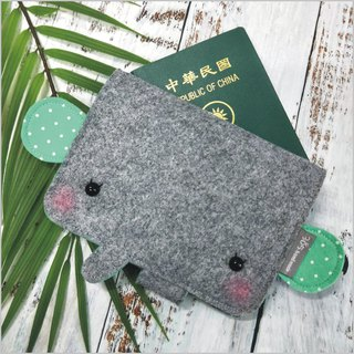 Balloon-Elephant Passport Set Lake Green Dot)