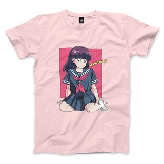 Sailor suit girl - pink - neutral T-shirt