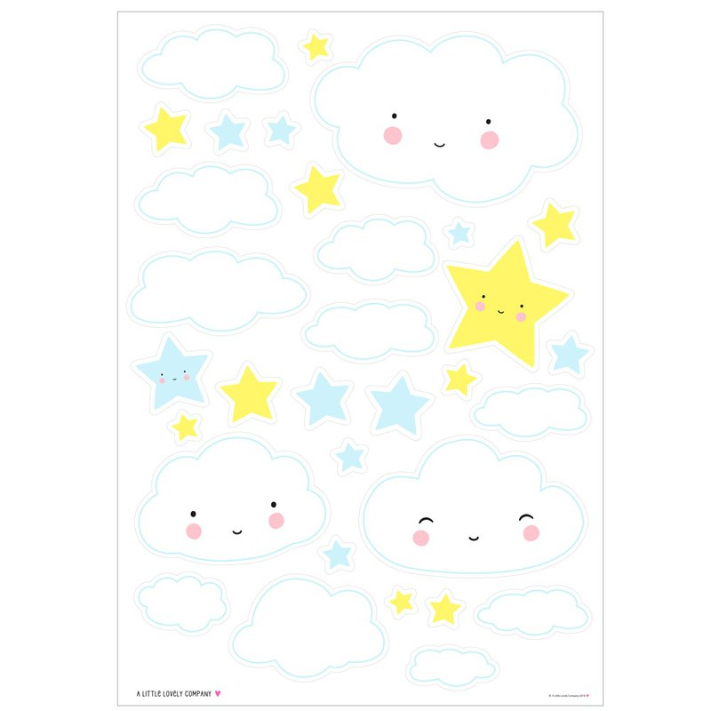 Dutch little cute company smile cloud wall sticker