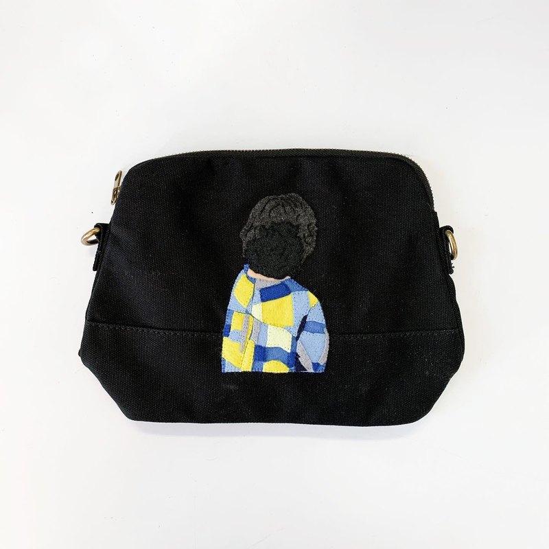 客製化女孩背影帆布包 / 斜背包.側背包