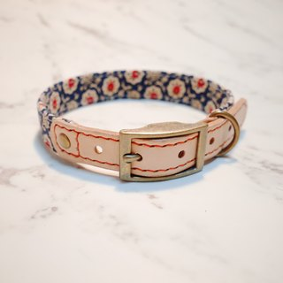 Dog collars, M size, old style small floral_DCT090432