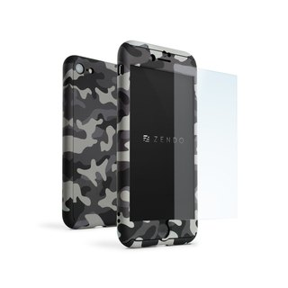 ZENDO iPhone 7 Special NanoSkin EX Full Cover Case - Camouflage Gray (4589903520045)
