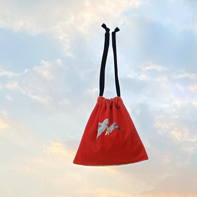 ARTISPACE2020新品丘比特與普賽克天使款麗絲絨浪漫便攜式收納袋