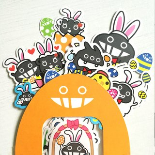 Dust rabbit rabbit sticker set