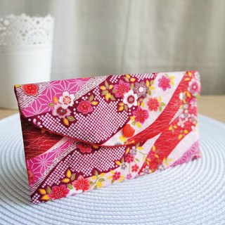 Lovely [and wind flower clusters red bag ‧ cents set ‧ cash storage bag] red