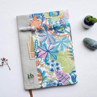 Tropical Trails Liberty Print - adjustable A5 bookcover