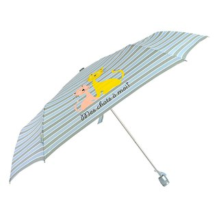 [Taiwanese Wenchuang Rain's talk] Naughty Cat Anti-UV Tri-Fold Open Umbrella